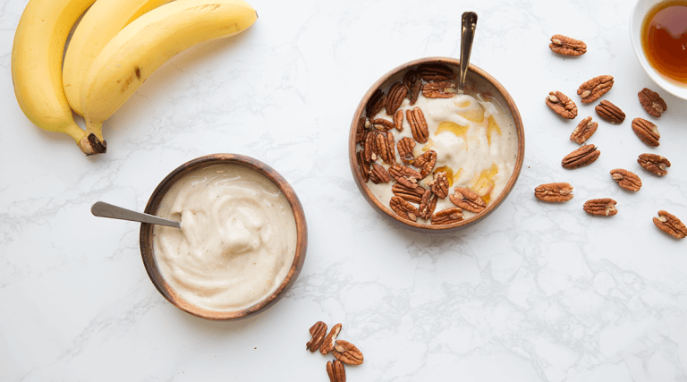 plain and pecan banana nice cream