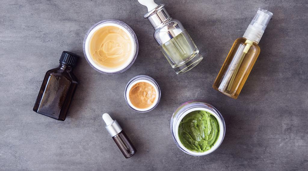 various creams and cosmetics
