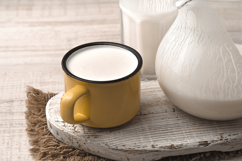 Kefir in a mug.