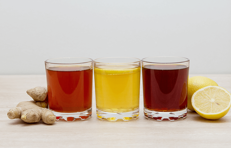 different flavors of kombucha