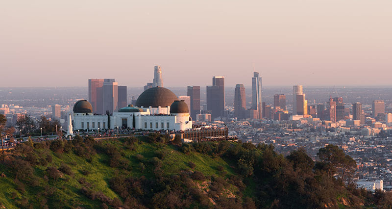 Griffith Observatory skyline view