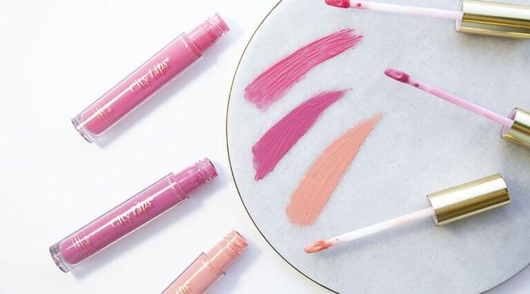 bright pink lipgloss