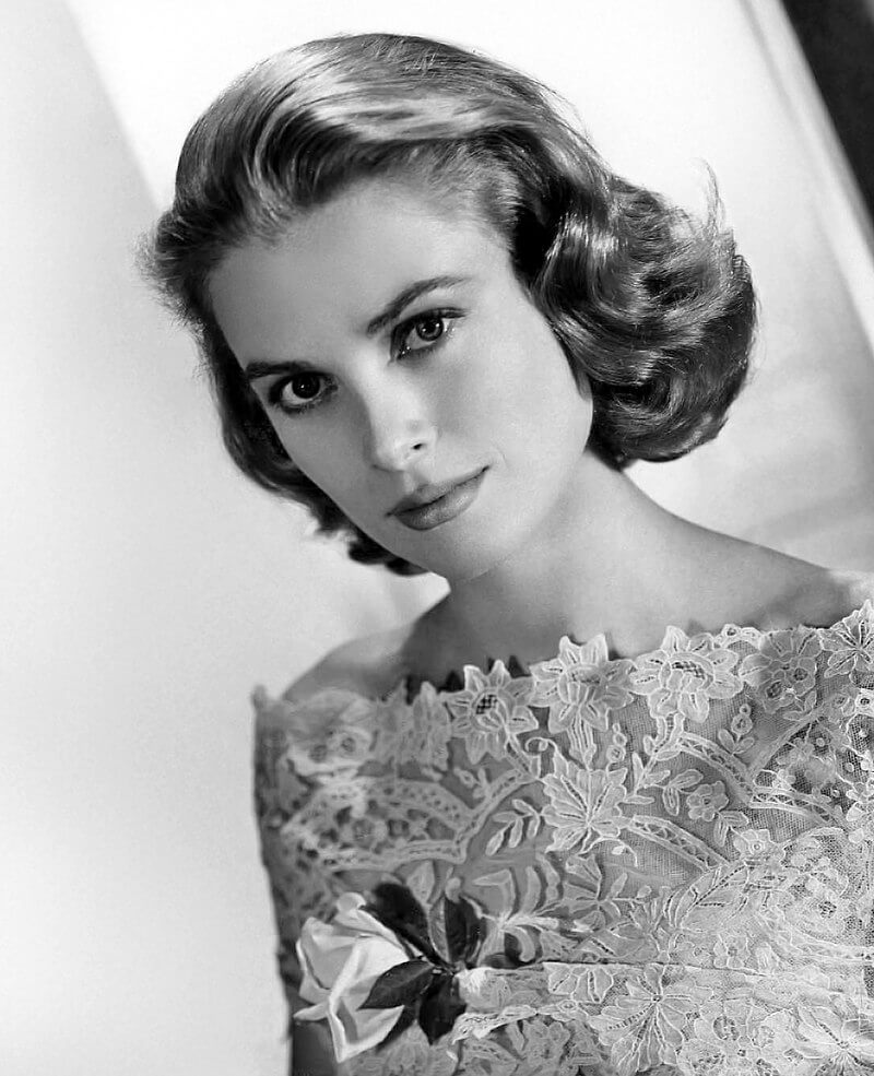 Black and white Grace Kelly portrait from 1963