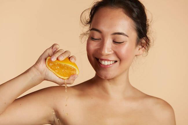vitamin c for skin in orange